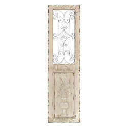 Benzara - Wood Metal Wall Panel 62in.H, 16in.W Wall Decor - Size: 16 Wide x 1 Depth x 62 High (Inches)