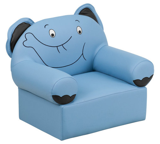 Flash Furniture - Flash Furniture Kids Blue Elephant Chair - Kids will now get to enjoy furniture designed specifically for their size! This elephant themed chair will be a charming piece of furniture that your child is sure to love. This portable chair is great for seating in any room. The vinyl upholstery ensures easy cleaning after accidents or for quick wipe offs.