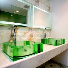 Modern Powder Room by Genco Berk Design