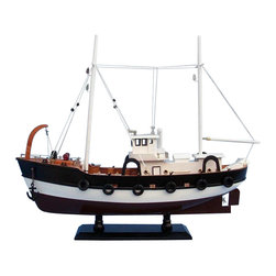 """Handcrafted Model Ships - Seas the Day 20"""" - Wooden Model Fishing Boat - Not a model ship kit"""