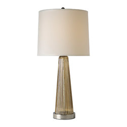 Trend Lighting - Chiara Table Lamp, Reeded Champagne Glass - -120 Volts