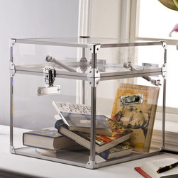 "None - Pure Decor Clear Acrylic Trunk - ""The clear Acrylic trunk is an accent table and a trunk all in one. Hydraulic lifters makes opening and closing easy and safe."""
