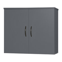 None - Talon Greystone Garage and Workshop Wall Cabinet - This two-door, garage wall cabinet is part of the Talon graystone collection of laminate garage and workshop organizers that you can combine to create your own perfect storage solution. Easy-mount hardware is included for fast installation.