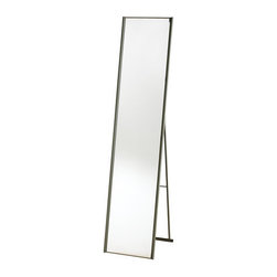 "Adesso - Adesso WK2444-22 Satin Steel Alice Alice Floor Mirror - Features:Folding stand-up-floor mirror has a powder coated champagne steel finish Quarter inch bevel trims the left and right side of the mirror, whose overall width is 11 Folds flat to 2"" Depth for storageSpecifications:Height: 59""Width: 13.5"""