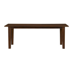 "Basque Honey 82"" Dining Table - This is a nice sized dining room table with really clean lines, intriguingly made from mango wood."