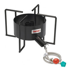 Bayou Classic - Bayou Classic Double Jet Outdoor Cooker - Make outdoor entertaining a breeze with this oversized outdoor cooker from Bayou Classic. The 22-inch cooking surface will accommodate pots up to 162 quarts so you can boil enough lobsters or cook enough chili for all your family and friends.