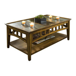Riverside Furniture - Riverside Andorra Rectangular Coffee Table in Burnished Oak - Riverside Furniture - Coffee Tables - 5302K - The Arkansas River Valley is home of majestic forests, ruggedly beautiful mountains, gurgling brooks and swiftly flowing rivers. It is also the home of Riverside Furniture Corporation. But like they would with any old friend, most folks refer to us just by our first name.