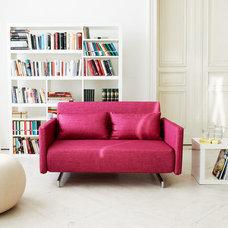 Modern Sleeper Sofas Dendera B Pink Sleeper Sofa