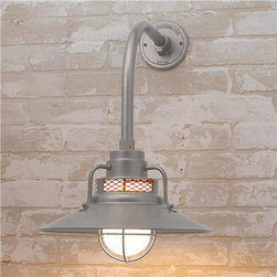 Seaside Nostalgia Outdoor Wall Light - I can see this providing light for the barbecue grill. It also comes in four finishes.