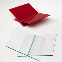 Glas Italia - Glas Italia Tutti Frutti Glass Magazine Holder - A magazine holder in chamfered and glued glass. Finishes of the glass include extra-light transparent and lacquered in a variety of bright colors. Only one sizes is available. Price includes shipping to the USA. Manufactured by Glas Italia.