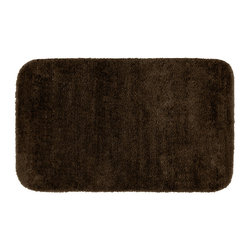 None - Plush Deluxe Espresso 24x40 Bath Rug - Relish the luxurious softness of this brown Plush Deluxe bathroom collection rug. Add a note of tasteful color to relaxing space,while enjoying the easy-to-clean features of nylon and the added safety of each rug's non-skid backing.