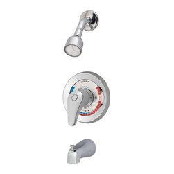 Symmons - Symmons Temptrol II 1-Hande Tub and Shower Faucet Trim Kit (Valve Included) - Symmons BP-56-2-LR-X Temporal II 1-Handle Tub and Shower Faucet Trim Kit, Chrome