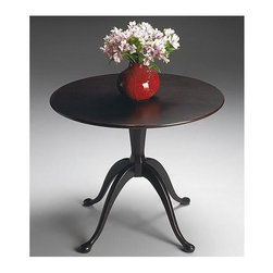 Butler - Hall Table with Round Top in Plum Black - Selected solid woods, wood products and choice cherry veneers