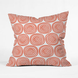 Red Licorice Pillow Cover - This bright, mesmerizing throw pillow makes retro a statement wherever it's tossed.