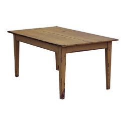 Pine Farm Table by Joseph Spinale Primitive Furniture - A great farmhouse table is a must for carrying out British pub style. It's perfect for gathering friends and family around.