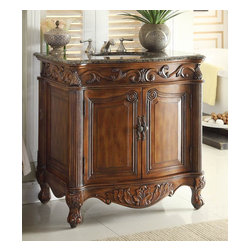 Antique Bathroom Vanities - Majority of antique bathroom vanities are made from wood. Not just any kind of wood. These could range from rubber wood to oak. But you can be sure that these woods have been treated in order to endure the high humidity of everyday use in homes. What attracts people is the fact that these antique vanities are prudently and exactly hand crafted with unique and lovely designs. There's just something about wood that people love as its totally natural as well as ecological friendly. Home owners would also be able to select what type of finishing they would like on their traditional bathroom vanities, finishing goals to seal and protect in order to prevent any peeling or fading in high humidity levels.