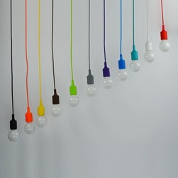 Modern Silicone E27 Pendant Lighting - Add warmth to your home by hanging this E27 Pendant Lighting in your living room,dining room or bedroom.Once you hang this lamp, you'll start critiquing every other lighting fixture in the house. The light's unique design will change the way you think about illuminating a room. 1 meter wire length included.