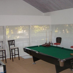 Roman Shades - Less light in your game room