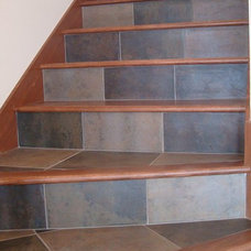 Contemporary Staircase by Sue Wisor at Quality Floors & Interiors