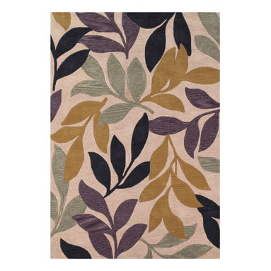 """Couristan - Ambrosia Poplar Rug 4782/0847 - 2'3"""" x 3'9"""" - These modern, elegant area rugs offer a bold color palette that can serve as either the foundation of the room, or act as the unifying piece that ties everything together. Take advantage of the collection's large-scale floral designs which have been designed to enlarge the appearance of any setting needing the extra sense of dimension and depth. These beautiful floral designs are a great way to add a pop to any room, from the foyer to the bedroom."""