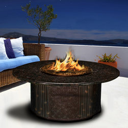 California Outdoor Concepts - Tradewinds Fire Pit Chat Table - I love using tables like this as an accessory to an already great outdoor area.  This pretty much puts the icing on any deck or patio.