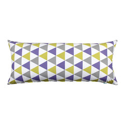 LaCozi - Becca Purple and Yellow Body Pillow Cover - Cover all the angles in style. This 100 percent cotton cover just made your favorite body pillow even more fun to hug.