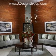 Modern Living Room by J Design Group - Interior Designers Miami - Modern
