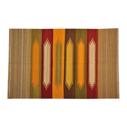 Flat Weave Hand Woven Multicolored Durie Kilim 6'x9' Reversible Rug SH15728 - Soumaks & Kilims are prominent Flat Woven Rugs.  Flat Woven Rugs are made by weaving wool onto a foundation of cotton warps on the loom.  The unique trait about these thin rugs is that they're reversible.  Pillows and Blankets can be made from Soumas & Kilims.