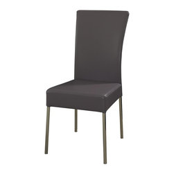Powell - Powell Cameo Heather Dining Chair (Pack of 2) X-494-334 - A stylish dining complement in modern, contemporary design with the Cameo dining chair in Heather. This colorful chair features a sturdy chrome metal frame with a slim waterfall faux leather profile. The modern style and beautiful Heather purple color will complement a range of d&#233:cor. Some assembly required.