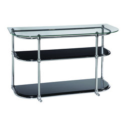 Bassett Mirror Company - Bassett Mirror T2615-400C Sullivan Motion Console Table - Console Table belongs to Sullivan Collection by Bassett Mirror Company Bassett Mirror is fluent in this art, showing a terrific contemporary furniture that will satisfy on the one hand fans of home coziness, and on the other hand - seekers of non-standard design solutions also. One of the many strengths of the Bassett Mirror is using high quality materials for perfect embodiment of brilliant design ideas. Console Table (1)
