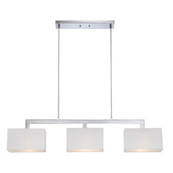 Quoizel Lighting - Remi Island Billiard Fixture With 3 Lights - For over seventy years, Quoizel lighting has been dedicated to the design and production of its diversified line of fine lighting products and home accessories.