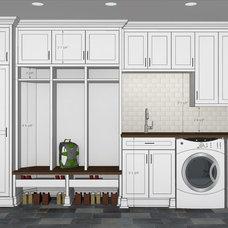 Traditional Interior Elevation by Labra Design Build
