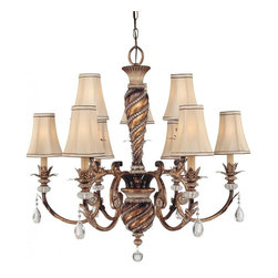 Minka-Lavery - Minka-Lavery Aston Court 9-Light Chandelier - 1748-206 - This 9-Light Up Chandelier has a Bronze finish and is part of the Aston Court collection.