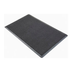 3M CORPORATION - 3M NOMAD AQUA PLUS 850MATTING GRAY 3'X5' - • Coiled vinyl loops scrape, trap and hide dirt and moisture from shoes; minimizes tracking debris into building