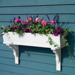 None - Lazy Hill Farm Designs 'Sunrise' White Window Box - Add bright,colorful flowers or rich green plants to your home's exterior with this hand-crafted window bow. With a durable cedar construction,this white box comes with all necessary mounting brackets and has pre-drilled drainage holes.