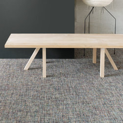 CHILEWICH CONTRACT DESIGNS | PLYNYL® WALL-TO-WALL FLOORING IN BOUCLÉ - Plynyl® was the name given to our flooring products when we first introduced them in 2001. Chilewich wall-to-wall flooring is made in rolls by bonding our textiles to a soft, resilient polyurethane cushion. The cushion contains post-consumer recycled content.