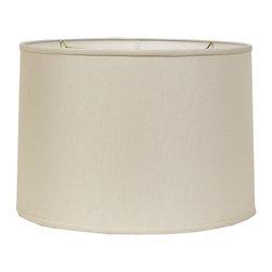 16&#34 Belgian Linen Drum Shade- Beige or Cream -