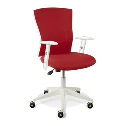 Jesper Office Furniture - Sanne Red Office Chair - Features: