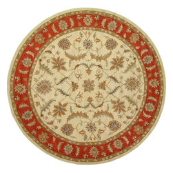 eSaleRugs - 11' 11 x 11' 11 Classic Agra Round Rug  - SKU #33102720 - Tufted Classic Agra rug. Made of 100% Hand Spun Wool. Brand New.