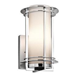 Joshua Marshal - One Light Polished Stainless Steel Outdoor Wall Light - One Light Polished Stainless Steel Outdoor Wall Light