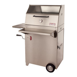 Hasty-Bake - Hasty-Bake Continental 84 Stainless Steel Charcoal Grill - A smaller version of the Gourmet, this model is a terrific choice for those who appreciate the additional features of this Hasty-Bake style but have limited space or a smaller family. The Continental has ample cooking space to prepare an entire meal for your family or entertain a small group of friends  Specifications