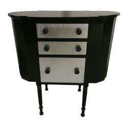 Used Black & Silver Vintage Sewing Table - This fab sewing table from the early 1900's has been ...