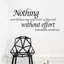 ColorfulHall Co., LTD - Home Wall Art Nothing Worth Having was Ever Achieved Without Efford - Home Wall Art Nothing Worth Having was Ever Achieved Without Efford