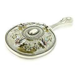 "Alexander Kalifano - Vanity Hand Mirror - Vanity mirror made with Swarovski crystals. Features: -Vanity collection. -Crystals are made with Swarovski. -Perfect for yourself and someone else. Dimensions: -9"" H x 3.7"" W x 0.5"" D, 0.82 lb."