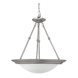 Capital Lighting - Capital Lighting 18W Energy Efficient Transitional Pendant Light X-UG-NM0272 - Whether traditional, vintage or modern this  Capital Lighting 18W Energy Efficient Transitional Pendant Light will enhance your interiors. This energy-saving piece features a frame in a matte nickel finish and a white faux alabaster glass shade. It's a stunningly spectacular fixture that's sure to stand out in most any room in your home.