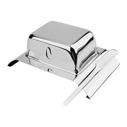 BergHOFF - Butter Dish and Knife Set - Stainless steel butter dish gives any dining table a classy tableBerghoff butter dish includes a matching butter knifeButter dish and knife made of surgical stainless steel
