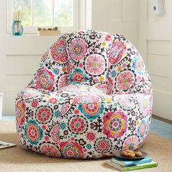 Suzani Warm Lean-back Lounger - Need extra seating for your study buddy? This cute little lounger would make the perfect spot to settle in for hours of study time.