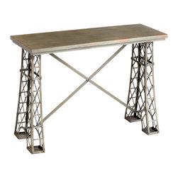 Cyan Design - Cyan Design Lighting 05054 Vallis Console Table - Cyan Design 05054 Vallis Console Table