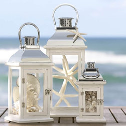 Bristol Lantern - These would be perfect on the mantel to remind you of summers at the beach.