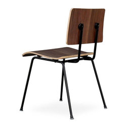 Gus Modern - Gus Modern School Chair in Walnut - Ever wish you could go back to school, but with a bit more style this time? Harken back to your elementary days with this svelte walnut chair, designed by Gus Modern and inspired by schoolhouse furnishings.